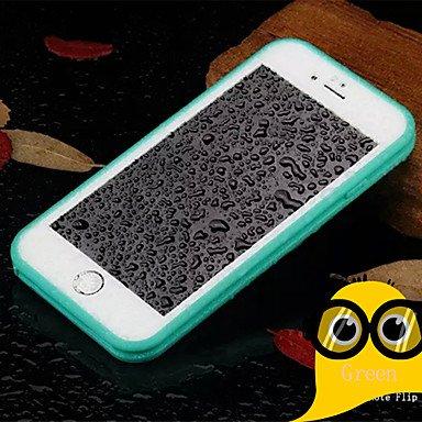 Fundas y estuches para teléfonos móviles, iphone 7 más claro Identificación táctil compatible avec impermeable&caja del teléfono delgada para iPhone 6 6s más ( Color : Blanco , Modelos Compatibles : I Rosa