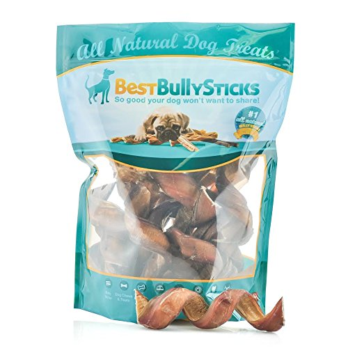 Best Bully Sticks Premium 5-6 Inch Curly Bully Sticks (12 Pack) Made of All-Natural, Free Range Grass Fed Beef