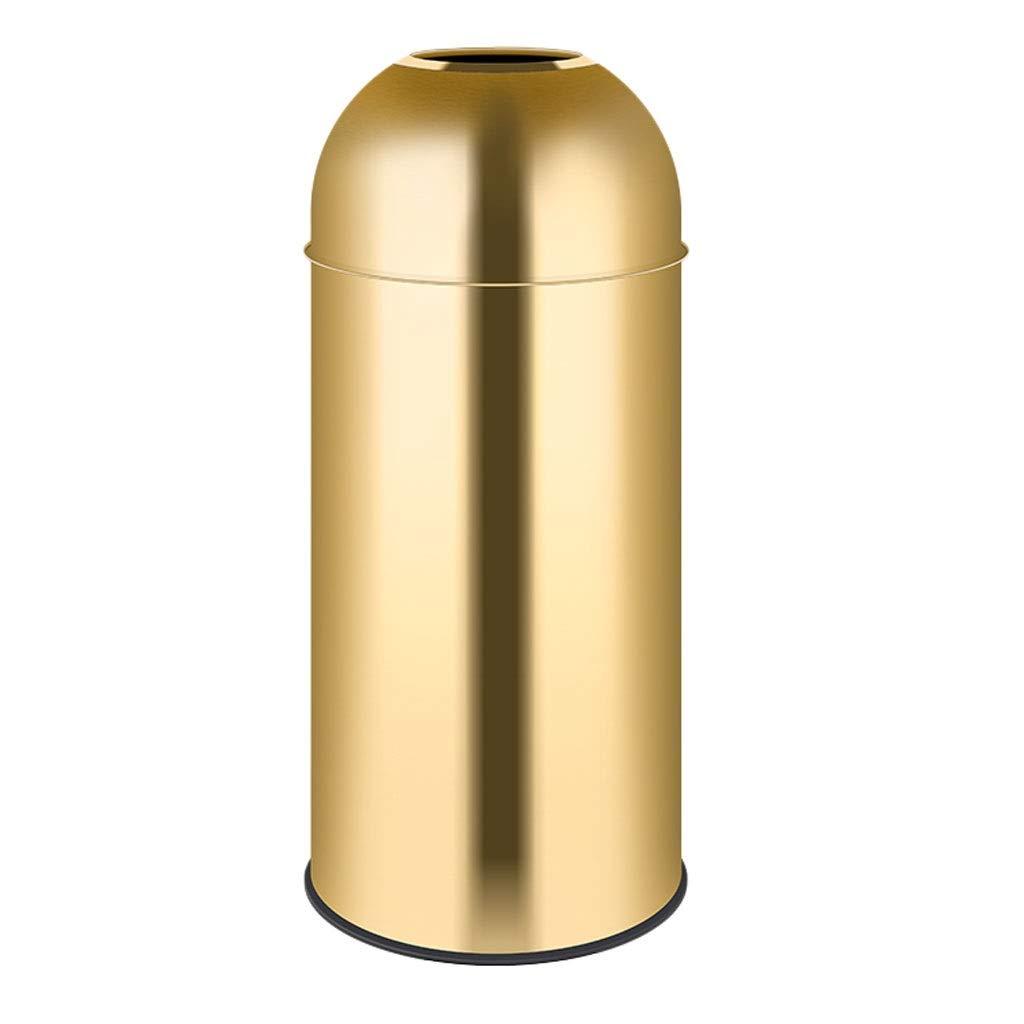 ロビーのゴミ箱ステンレス鋼45 L直径35 * 80 cmホテルのショッピングモールのゴミ箱 (色 : ゴールド, サイズ さいず : Diameter 35*80cm) Diameter 35*80cm ゴールド B07S9RF4YJ