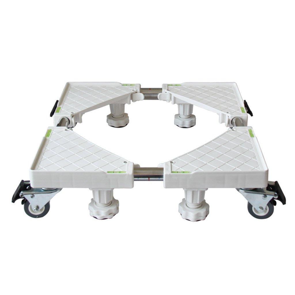 洗濯機 台 ドラム 調節可能な洗濯機ベース冷蔵庫トレイステンレススチールブラケット(スタイルオプション) 防音 防振   B0799H4FZ7