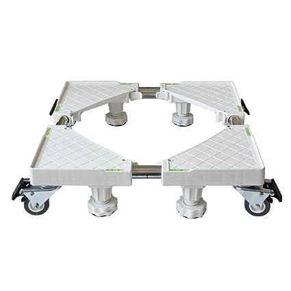 ZXLDP Lavadora Carretilla Ajustable Lavadora Ajustable Bandeja para Nevera Base Soporte De Acero Inoxidable (Estilo