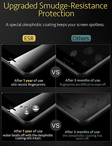 ESR iPhone 8/7 Screen Protector, [2-Pack] [Force Resistant Up to 22 Pounds] iPhone 8 Tempered Glass with [Free Self-Installation Kit], Anti-Scratch, Case Friendly for 2017 4.7-inch iPhone 8 7 6s 6