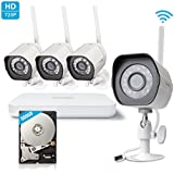 Zmodo Wireless 720p HD Smart NVR Security Camera System 500GB Hard Drive