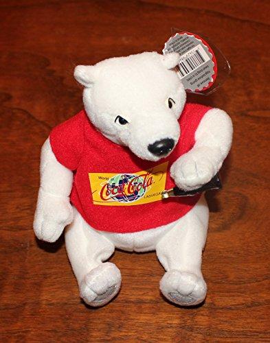 (Exclusive Collectible Coca Cola Polar Bear in Red World of Coca Cola Las Vegas Red Tee Shirt Bean Bag Plush #0192)