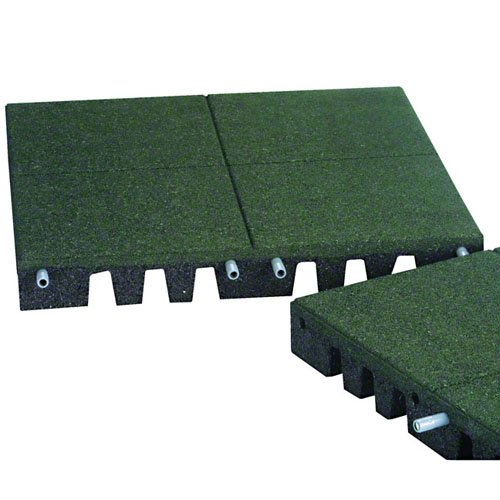 PlayFall Playground Safety Surfacing Green Pallet of 40 Tiles - 2' x 2' Rubber Tiles (160 sq. ft.) 1.75'' Thickness by KIDWISE