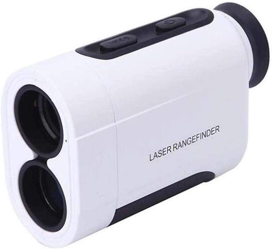 Lcxligang Telémetro láser 5-600M Yardas telémetro Golf Caza telémetro Impermeable 6X Aumento con Pendiente Asta-Lock ángulo Horizontal Distancia Velocidad Altura