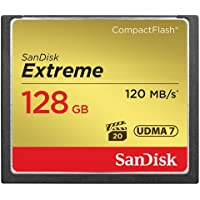 SanDisk Extreme 128GB CompactFlash Memory Card UDMA 7 Speed Up To 120MB/s- SDCFXS-128G-X46