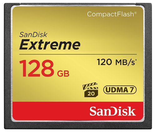 SanDisk Extreme CompactFlash 128GB Memory Card Compact Flash at amazon