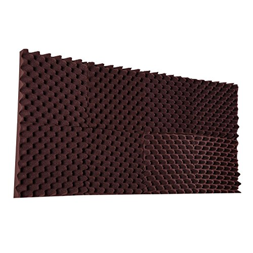 96 Pack Burgundy Egg crate Acoustic Foam Sound Proof Foam Panels Noise Dampening Foam Studio Music Equipment 1.5'' x 12'' x 12'' by IZO All Supply