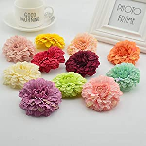 Free-Ship - 5pcs Multicolor Silk 6cm Marigold Artificial Flowers for Wedding Party Home Decoration Mariage Calendula Simulation Flowers 16