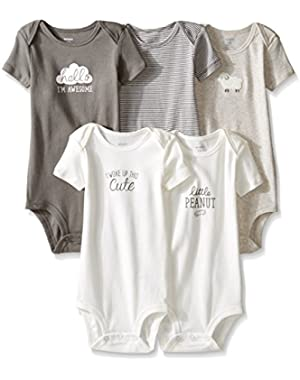 Baby Boys' 5 Pack Bodysuits (Baby)!
