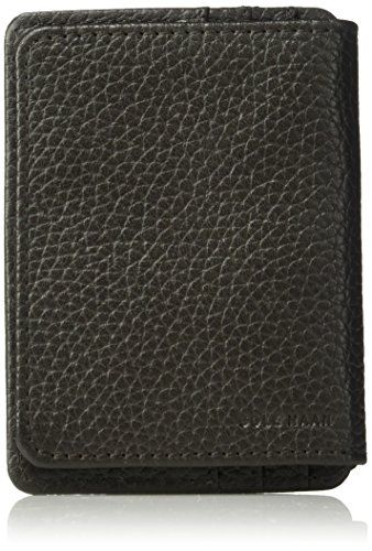 Flap Pocket Leather Wallet (Cole Haan Pebble Leather Wallet With Id Flap, Money Clip Accessory)