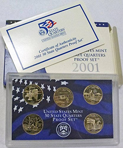 2001 S Statehood Quarters Proof Set Original Mint