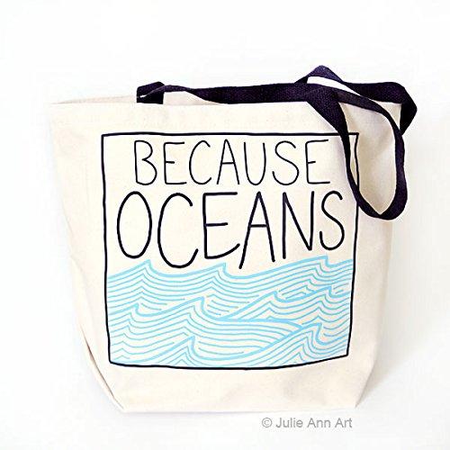 トートバッグ、食料雑貨バッグ、ためOceans、by Julie Annアート B076CT3HF9