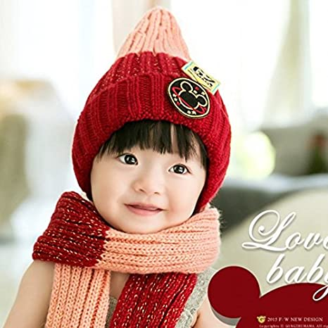 b5316ff26416 Buy Generic Grey Nave blue   Baby Winter Hats and Scarf Set Kids Crochet  Latest Cute Hats for Children Knited Baby Beanies Full Cotton Winter Scarf  Set ...