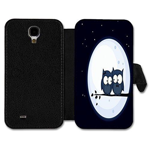 Book Style Flip Handy Tasche Case Schutz Hülle Schutzhülle Schale Etui Eulen Design Auswahl Nr. 6 (Design 7) für Apple Iphone 4 / Iphone 4S