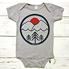 d72812b1 Pacific Northwest baby onesie. Pac NW unisex baby body suit. PNW infant one.
