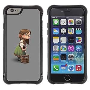 Paccase / Suave TPU GEL Caso Carcasa de Protección Funda para - Character Children'S Girl Cartoon - Apple Iphone 6 PLUS 5.5