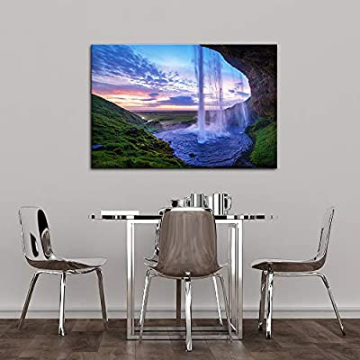 Dazzling Design, That's 100% USA Made, for Living Room Bedroom Home Artwork Paintings Waterfall Landscape