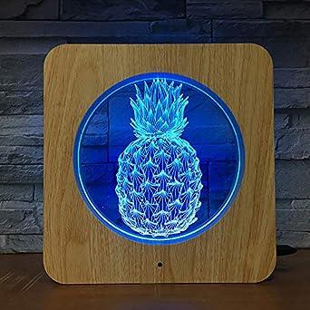 Fruta de piña luz de noche de plástico lámpara de mesa de luz ...
