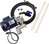 GPI 142100-01, L5116 Oil Pump High Viscosity Oil Pump, 4 GPM, 115/230-VAC, 0.75-Inch Ball Valve Nozzle, 0.75-Inch X 8-Foot Hose, 3-Foot Power Cord with Three-Prong Grounded Plug, Suction Pipe