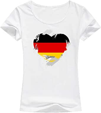 تيشيرت ألمانيا أبيض - للنساء