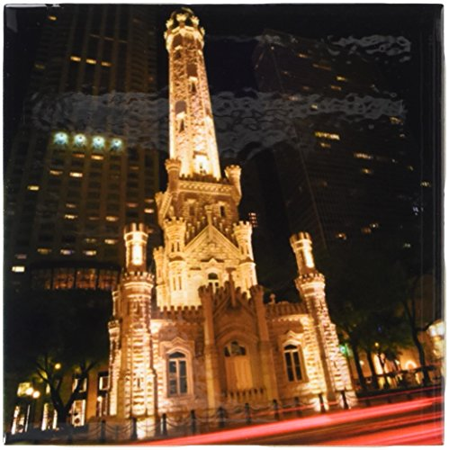 3dRose ct_90158_1 Illinois, Chicago. Water Tower on Michigan Avenue - US14 BJA0027 - Jaynes Gallery - Ceramic Tile, - Water Tower Chicago