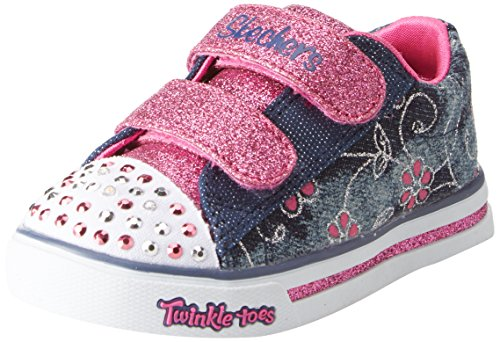 - Skechers Kids Girls' Sparkle Glitz-Denim Daisy Sneaker,Denim/Hot Pink,7 Medium US Toddler