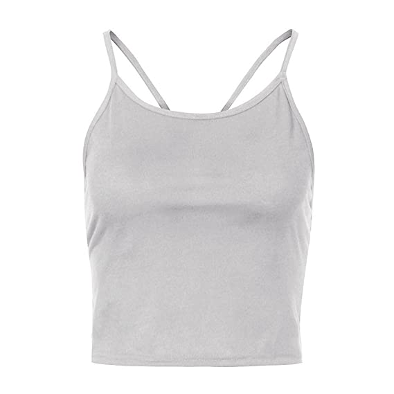 d11eb72b27 Amazon.com  Inverlee Fashion Womens Sexy Tank Top Vest Halter Backless  Blouse T-Shirt  Clothing