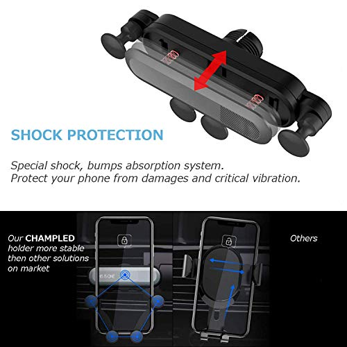 Amazon com: CHAMPLED Car Air Vent Clip Deformable Extendable