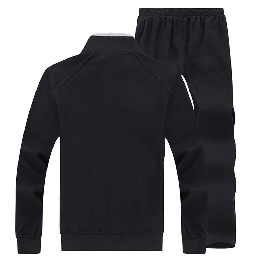 Mens Big Size Athletic Weight Loss Jogger Tracksuit Casual Zip Sweat Suit
