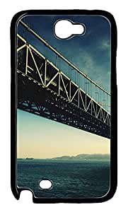 Samsung Galaxy Note II N7100 Cases & Covers - Beautiful Bridge Custom PC Soft Case Cover Protector for Samsung Galaxy Note II N7100 - Black