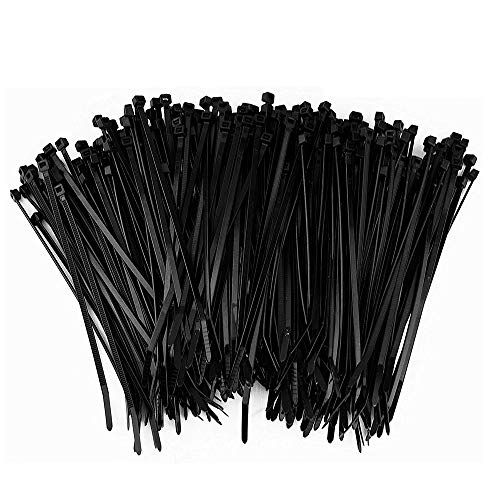 VITTO 500PCS Zip Ties Cables 8Inch Multi Purpose Wire Tie Wrap Ziptie Strap Plastic Tie with 0.1 Inch Width for Garden Bird Mesh Guard & Banister Rail Netting - Black