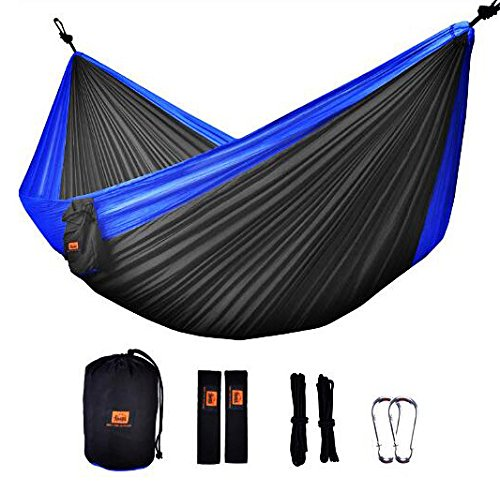 Hiking Camping Hammock Camping and Outdoors Activities OTDCH0720 Backpacking ONTODEX Double Parachute Hammock with Tree Straps for Travel