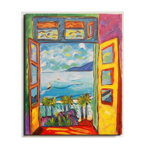 WJWGP Matisse Decoracion Marco De La Pintura Fauvismo Arte Pintura Colorido Paisaje Pared Poster Imprimir Colorido oLeo Decorativo Cuadro Inicio Famosos Pintor Pintor Pared 71x89cm No Marco