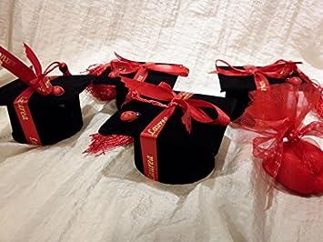 in vendita bella vista sito web professionale LANGOLO Set 2 Laurea BOMBONIERE Tocco con Nappina e Coccinella cm 7,2  Velluto Nero