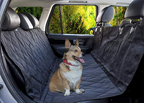 Quadrant 2 Dog Seat Cover by Durable, Waterproof, Luxury Seat Protection that is Machine Washable with Non-Slip Backing, Black hammock style Car Seat Cover For Pets (Best Way To Clean Leather Car Seats Naturally)