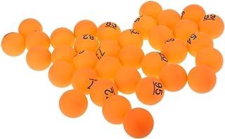 Sharplace Lot de 50pcs 40mm Balle de Tennis de Table/Ping-Pong/Beer Pong Avec Motif de Numéro 51 - 100