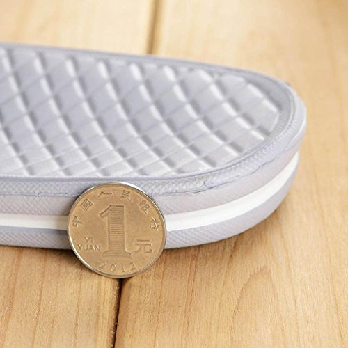 Inkach Mens Sandali Estivi - Pantofole Da Bagno Di Moda Casa Sandali Pantofole Pavimento Interno / Esterno Grigio