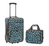 Rockland Luggage 2 Piece Set, Blue Leopard, One Size