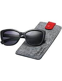 Polarized Women's Vintage Square Jackie O Cat Eye Fashion Sunglasses