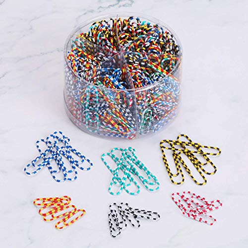 Organizing Business Cards - Paper Clip, 450pcs Assorted Sizes, rustproof & Nonskid, Medium and Jumbo paperclips (28mm & 50 mm) Perfect for Office School Clips, Document Organizing, Business Card Holders and Envelope Clips