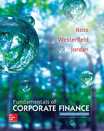 Fundamentals of Corporate Finance, 11th Edition (The Mcgraw-Hill/Irwin Series in Finance, Insurance, and Real Estate) by Stephen Ross (2015-02-06)