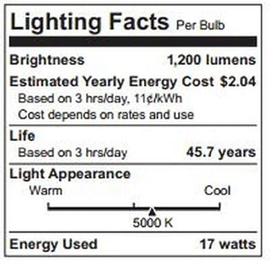 TCP LED17E26P3850KFL LED Light Bulb 17-watt PAR38 Floodlight, 5000-Kelvin