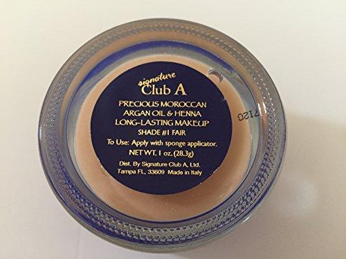 Signature Club A Precious Moroccan Argan & Henna Long-lasting Makeup Shade #1 - 1 Oz