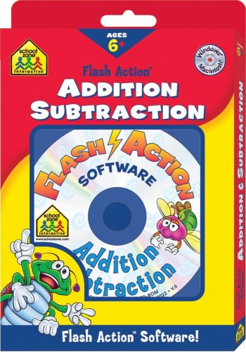 - Addition and Subtraction Flash Action Software (School Zone Interactive Flash Action Software)