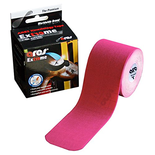 ARES Kinesiology Synthetic EXTREME Tape Metallic PINK 2 in x 16.5 ft by ARES Kinesiology Tape