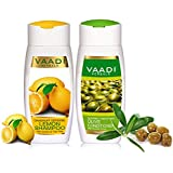 Vaadi Herbals Dandruff Defense Lemon Shampoo, 110ml with Olive Conditioner, 110ml