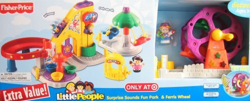Little People Surprise Sounds Fun Park & Ferris Wheel w Lights & Sounds - Target Exclusive Playset (2008) (Fisher Price Ferris Wheel)