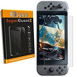 [2-PACK] For Nintendo Switch (2017 Release) - SuperGuardZ Tempered Glass Screen Protector [Lifetime Replacement], 9H, 0.3mm, 2.5D Round Edge, Anti-Scratch, Anti-Bubble